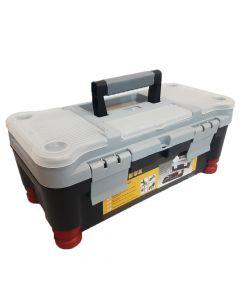 Caja De Herramientas Tool Box 14'' Plastica Con Bandeja Organizadora 355 x180 x 146 Mm