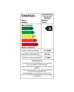 Calefactor a pellet bosca mod eco smart burdeo (e1)