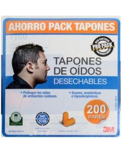 Tapones Oidos Esponja Mod 1100 S/cordon 3m (hc00066463-7) (e200)
