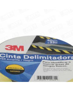 Cinta delineadora 3m amarillo/negro mod.766  50mm x 33mt (xs00240173-4) (e24)