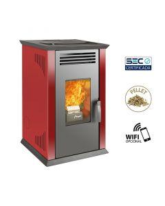 Calefactor a pellet amesti mod italy 8100 roja (e1)