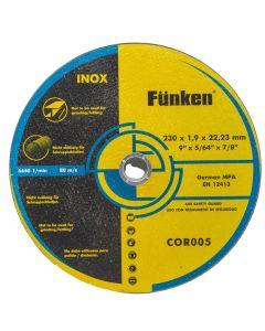 Disco Corte Inoxidable Funken 9 x 1,9 mm