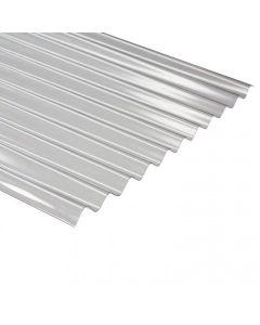 Plancha policarbonato ondulada transparente