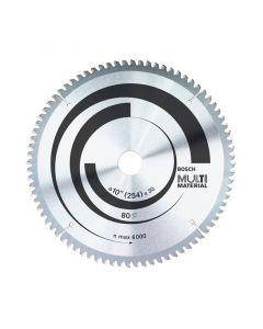 Disco Sierra Circular Bosch 10'/ 60 Dientes Mod: Multi Material