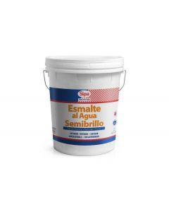 **esmalte al agua semibrillo blanco tineta sipa 41840505