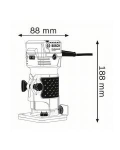 Fresadora de Cantos Bosch Mod: Gkf 550