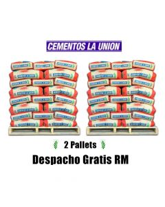2 PALLETS CEMENTO LA UNION 25  KG.
