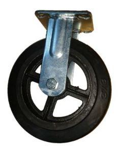 Rueda de goma negra c/ base fija 4 70 kg (lioi) (051720950)