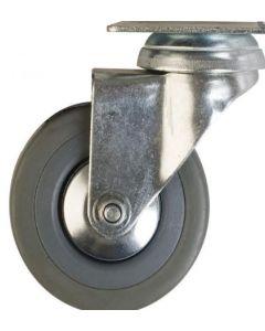 Rueda de goma gris giratoria 4 80 kg (lioi) 51730520