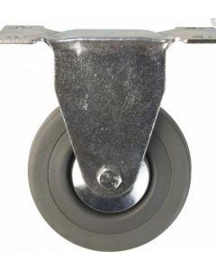 Rueda de goma gris base fija 4  80 kg (lioi) 51730560