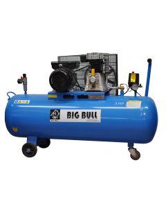 Compresor 5.5 hp 300 lt 120 lb 380 volt. color negro big bull