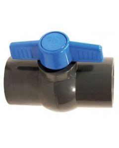 Valvula de bola compacta clase 10 pvc 25mm (60887) (e10)