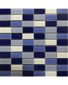 Malla vidrio rectangular azul 30 x 30 (mosa31) (e18)