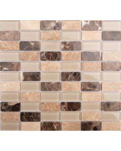 Malla rectangular terra beige 30 x 30 (ecde09) (e14)