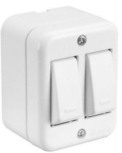 Interruptor sobrepuesto doble (marisio) mwd66210 (e40)