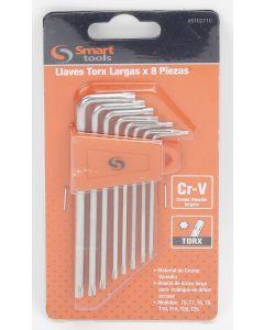 Set Llaves Torx Smart Tools 8 Piezas T9 A T25