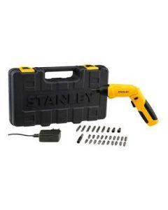 Atornillador Inalambrico Stanley 4v + 30 Accesorios Mod: Scs4k-b2c