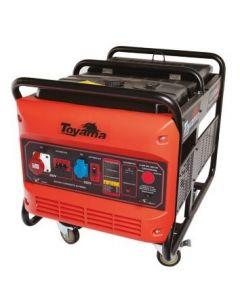 Generador gasolina 10 kva. motor 20 hp. trifasico. part. electrica con bateria tg12000cxe1j3