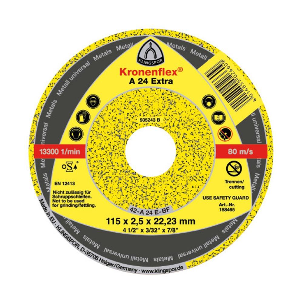 Disco de Corte Metal 4 1/2' A24 KLINGSPOR